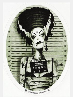 Screaming Demons Bride of Frankensteine Sticker