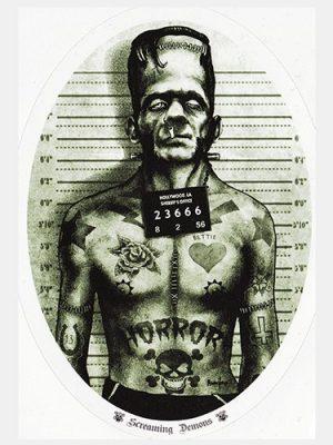Screaming Demons Frankenstein Monster Sticker