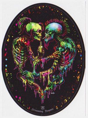 Screaming Demons Skeleton Punk Lovers Sticker