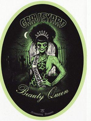 Screaming Demons Zombie Beauty Queen Sticker