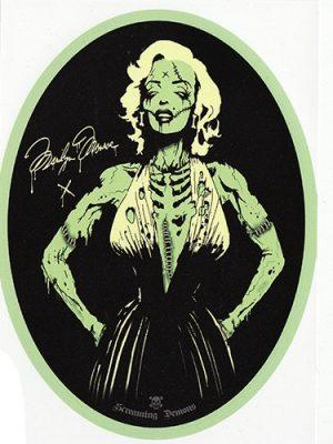 Screaming Demons Zombie Marilyn Sticker