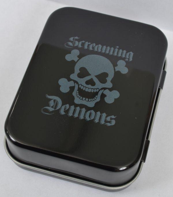 Screaming Demons Pin Up 8 Ball Tin