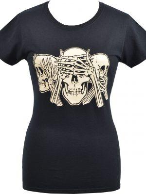 See no evil Ladies Black T-Shirt