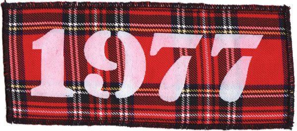 1977 Red Tartan Patch
