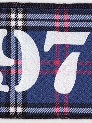 1977 Blue Tartan Patch