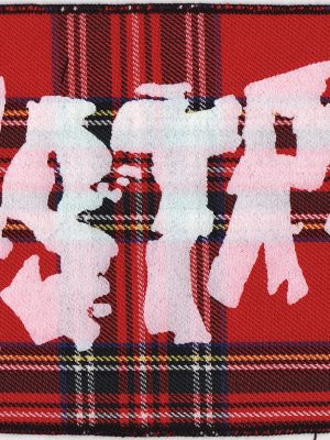 Destroy Red Tartan Patch