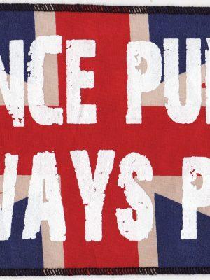 Once Punk Always Punk Red Tartan Patch