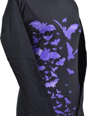 Ladies Purple Bats Goth L/S