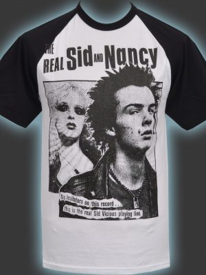 The Real Sid & Nancy Mens Baseball T-Shirt