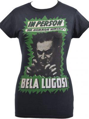 Bela Lugosi Mr Horror Ladies T-Shirt
