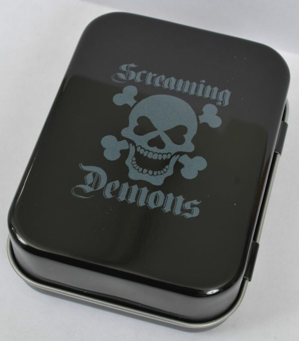 Screaming Demons Psychobilly Pin-Up Tin Set