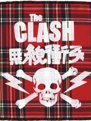 The Clash Red Tartan Patch