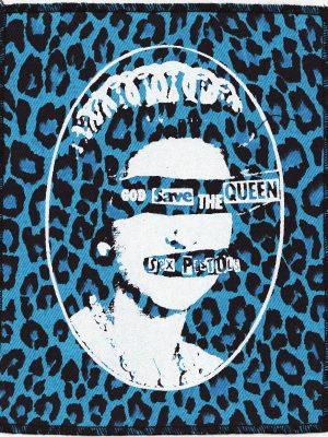 Sex Pistols God Save the Queen Blue Leopard Patch