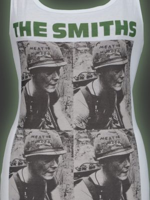 The Smiths Meat is Murder Ladies White Tank Top