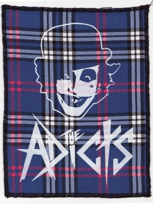 The Adicts Red Tartan Patch
