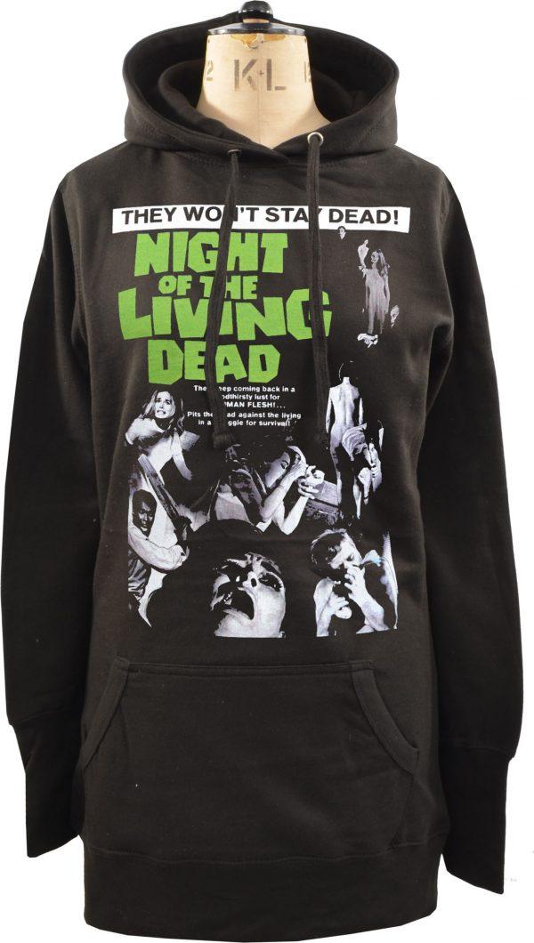 Night of the Living Dead Ladies Long Hoodie