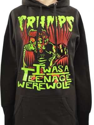 The Cramps Teenage Werewolf Ladies Long Hoodie