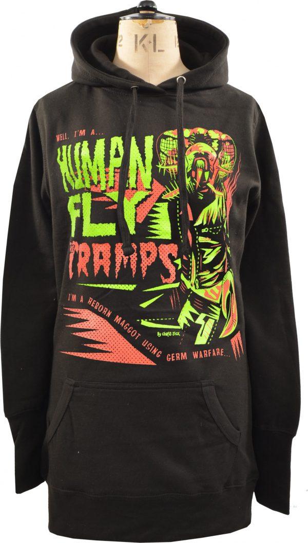 The Cramps Human Fly Ladies Long Hoodie
