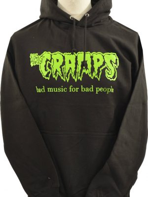 Cramps Bad Music Dark Grey Hoodie