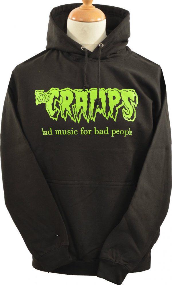 Cramps Bad Music Dark Grey Hoodie