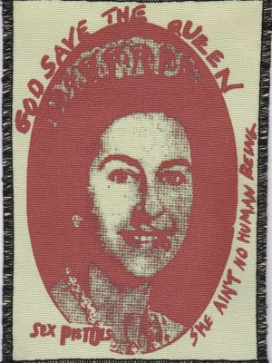 Sex Pistols God Save the Queen (Blue) Patch