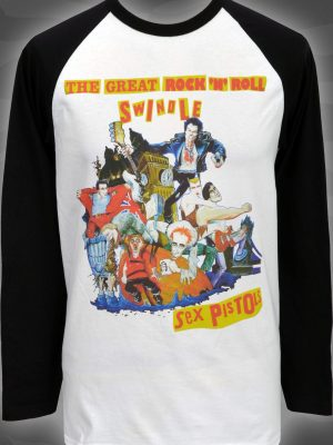 Sex Pistols Swindle Mens Long Sleeve Raglan Top