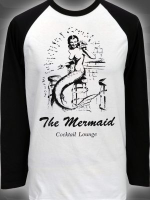 Tattooed Marilyn Mens Long Sleeve Raglan Top