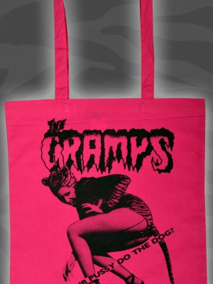 Cramps can your Pussy do the Dog Purple Tote Bag