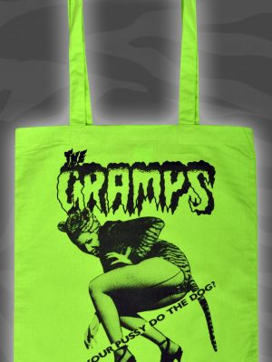 Cramps can your Pussy do the Dog Pink Tote Bag