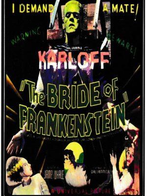 Bride of Frankenstein Vinyl Sticker