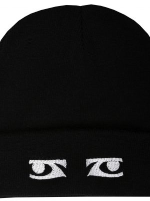 Chaos Black Embroidered Beanie