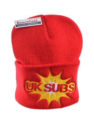 UK Subs Black Embroidered Beanie