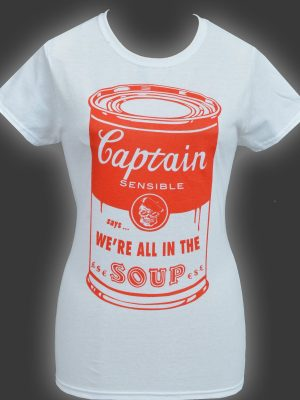Captain Sensible Soup Ladies T-shirt