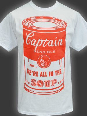 Captain Sensible Soup Mens Grey T-Shirt