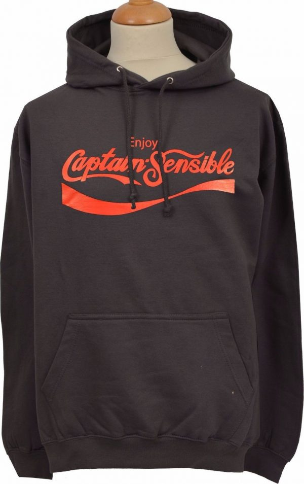 Enjoy Captain Sensible Dark Grey Hoodie