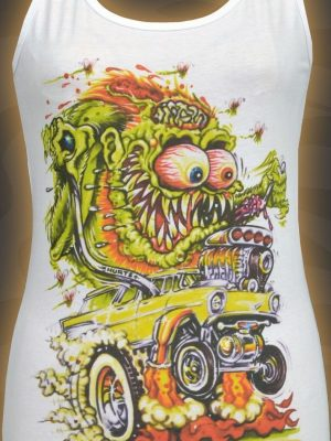 Johnny Ace Nomad Fink Ladies White Tank Top