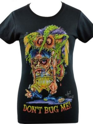 Johnny Ace Don't Bug Me Ladies Black T-shirt