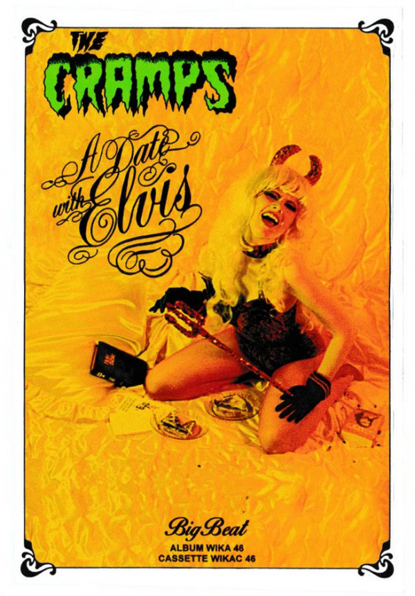 The Cramps A Date With Elvis Vinyl Sticker