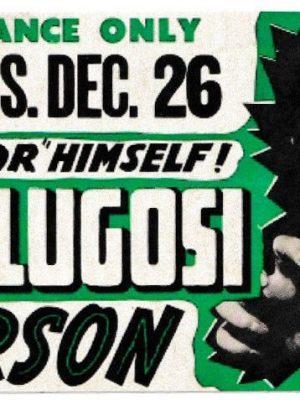 Bela Lugosi Vinyl Sticker