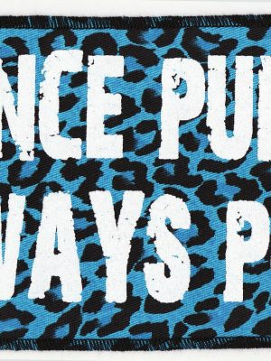 'Once A Punk Always A Punk' Blue Leopard Print Patch