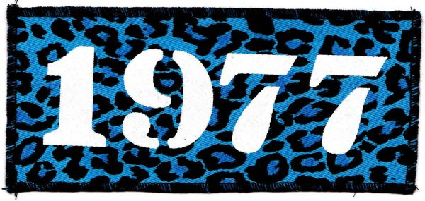 1977 Blue Leopard Patch