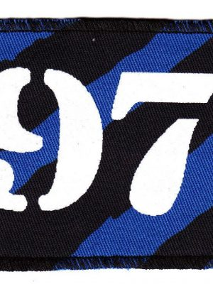 1977 Blue Zebra Patch