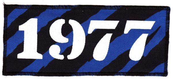 1977 Blue Zebra Patch
