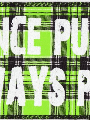 """Once Punk Always Punk"" green Tartan Patch"