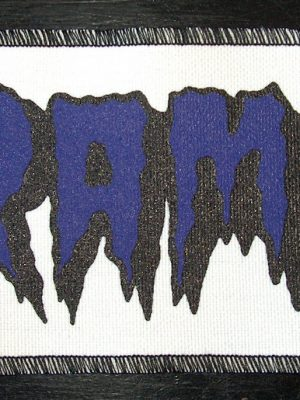 Purple And Black The Cramps White Patch
