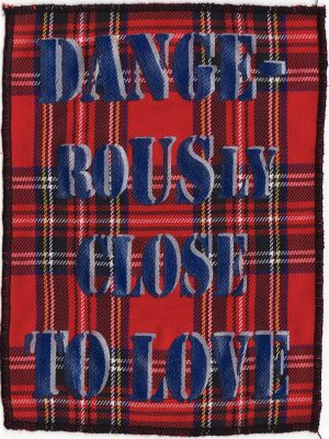 Dangerously Close To Love Red Tartan Patch
