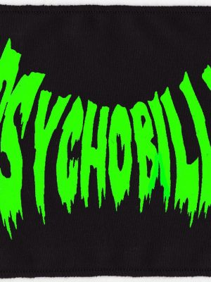 Psychobilly Slime Green And Black Patch
