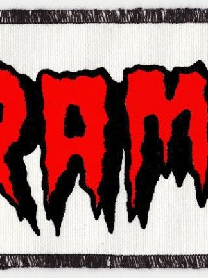 The Cramps Red and White Patch