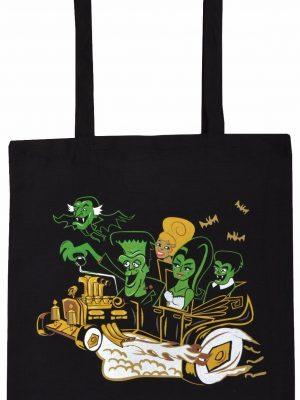 Meet The Munsters Black Tote Bag