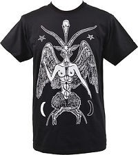 Satanic Demon Goat Mens T-Shirt